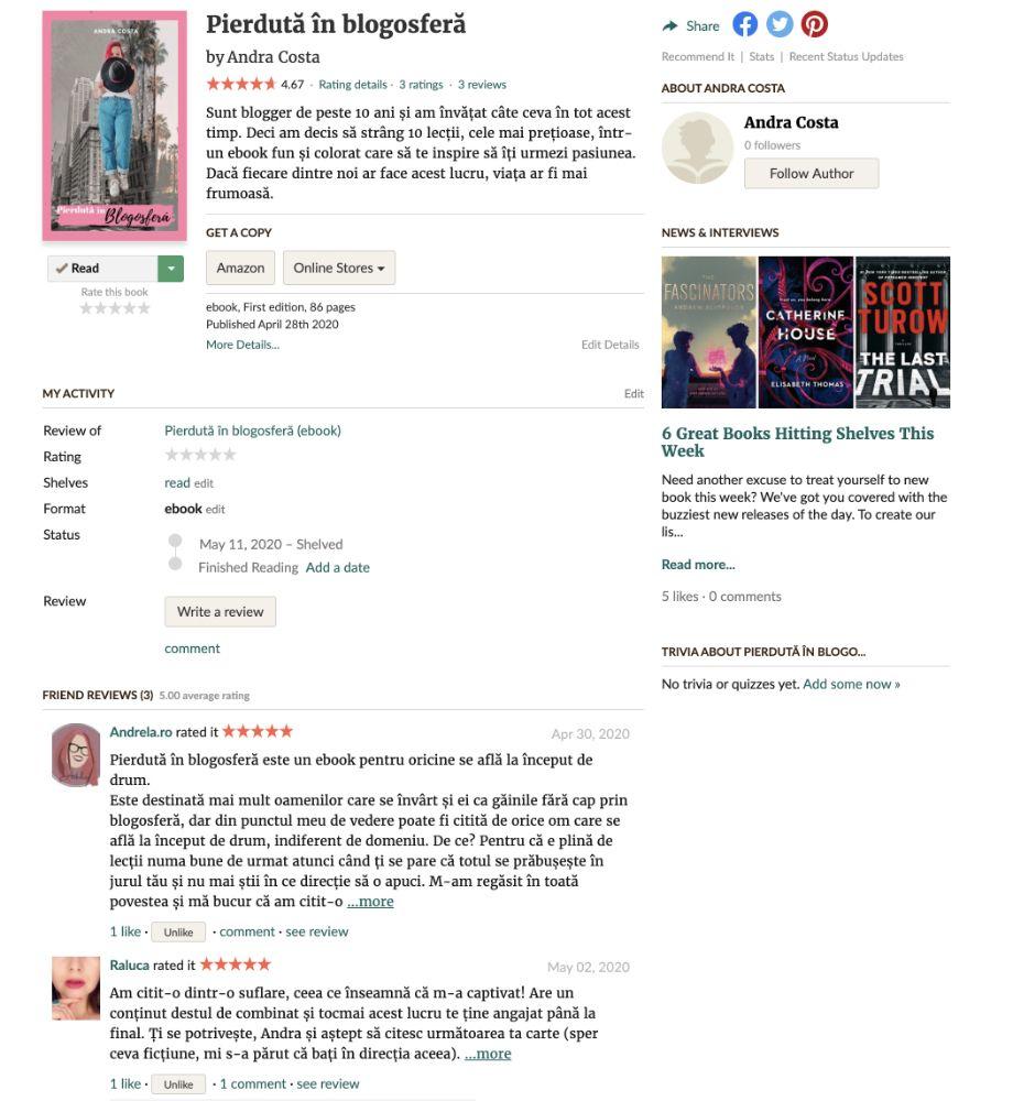 Pierdută în blogosferă ebook