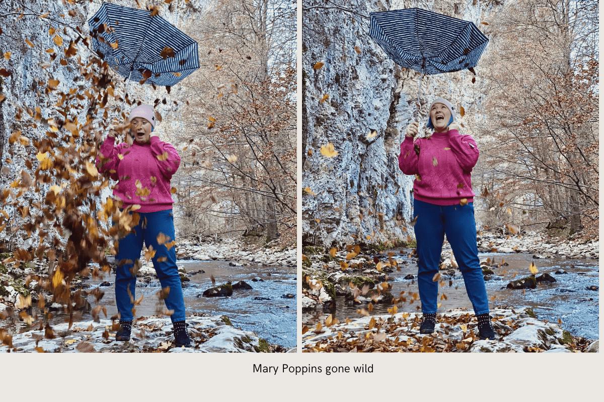 Epic fail în materie de poze cu frunze în cadrul feeric de la cascada Bigăr :))))
