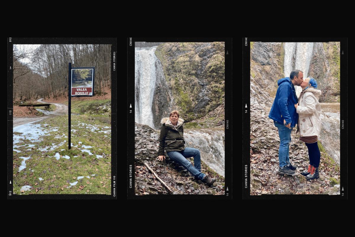 Început și final de traseu spre Cascada Boiului
