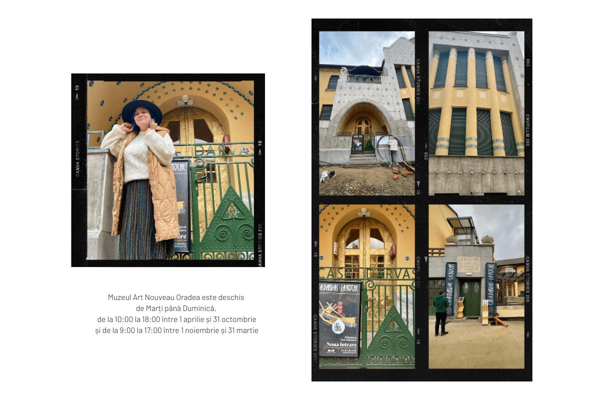 Intrările Muzeului Art Nouveau Oradea