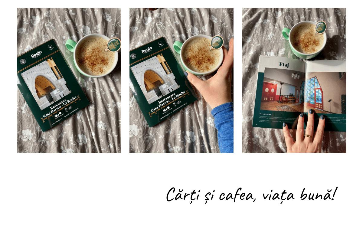 detalii cu cărți și cafea