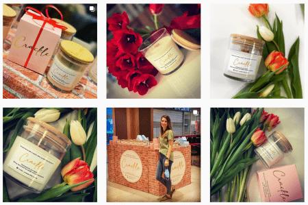 Detalii de pe instagramul lumânări Crackle