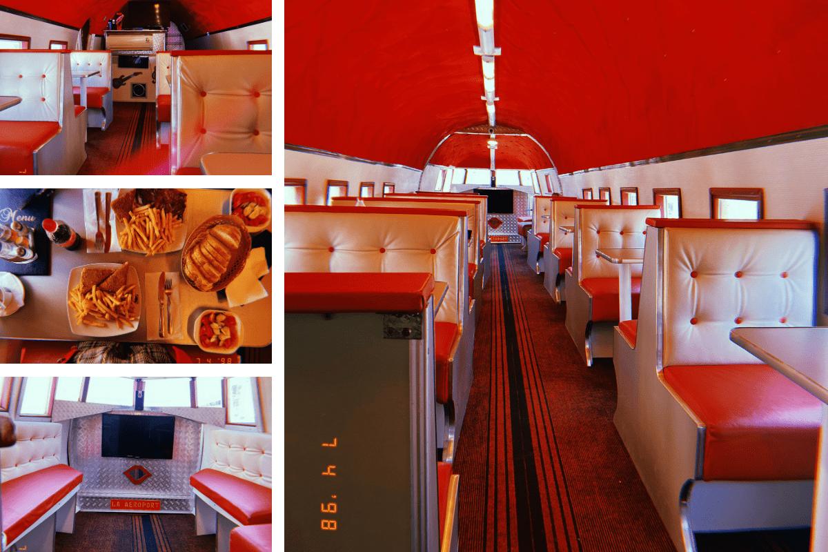 detalii de interior din restaurantul la aeroprt
