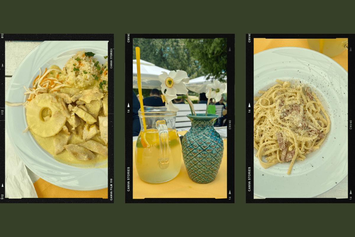 Mâncând la Oranjeria Palatului Brukenthal Avrig