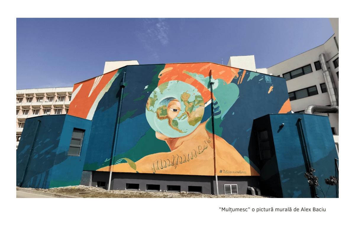prima pictură murală purificatoare de aer din Timișoara